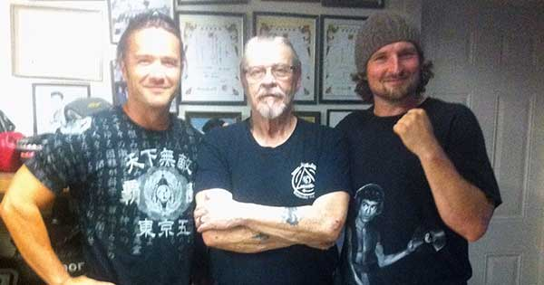 Sifu Jim, Sifu Jeremy and I from his last trip to the garage (fall - 2014)